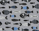 Day Dreams - Fish Grey from Cosmo Fabric