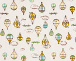 Vintage Stye - Hot Air Balloons Mustard from Cosmo Fabric