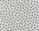 Arctic - Flower Toss Grey by Elizabeth Hartman from Robert Kaufman Fabric