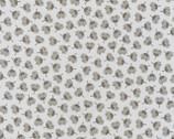 Arctic - Flower Toss Grey by Elizabeth Hartman from Robert Kaufman Fabric