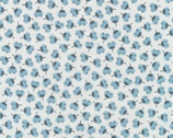 Arctic - Flower Toss Desert Sky Blue by Elizabeth Hartman from Robert Kaufman Fabric