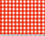 Kitchen Window Wovens - Gingham Flame Red by Elizabeth Hartman from Robert Kaufman Fabric