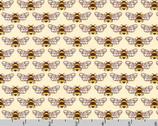 Berry Season - Bees Eggshell Cream by Elizabeth Hartman from Robert Kaufman Fabric
