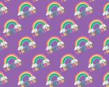 I Believe In Unicorns - Rainbow Purple from Camelot Fabrics