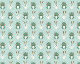 Camp-A-Long Critters - Light Green Frogs from Studio E Fabrics