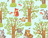 Hugs and Loves - Critters in the Woods from Henry Glass Fabric