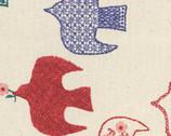 Scandinavian Woods IX Oxford - Birds Natural from Cosmo Fabrics