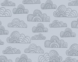 Jungle Fever - Clouds Grey by Rebecca Jones from Clothworks Fabrics