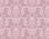 Sweet Rose - Damask Floral Dusty Pink from Quilt Gate Fabric