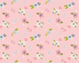 I Believe In Unicorns - Flowers Pink from Camelot Fabrics