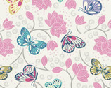 Sew Mindful - Lotus Flowers Butterfly from Lewis and Irene Fabric