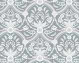 Almieda - Damask Medallion Grey by Laura Ashley from Camelot Fabrics