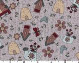 Sweet Garden of Mine - Garden Items Toss from Lecien Fabric