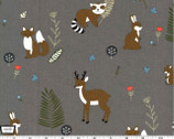 Critter Tails - Animals Truffle from Michael Miller Fabrics