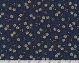 Sevenberry Kasuri - Blossoms Crosshatch Indigo by Sevenberry from Robert Kaufman Fabric