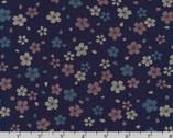 Sevenberry Kasuri - Blossoms Blue Indigo by Sevenberry from Robert Kaufman Fabric