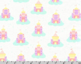Chasing Rainbows - Castles Rainbow White by Andie Hanna from Robert Kaufman Fabric