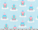 Chasing Rainbows - Castles Cloud Blue by Andie Hanna from Robert Kaufman Fabric