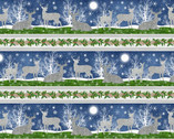 Under the Pines - Repeating Stripes Deer  from Wilmington Prints Fabric