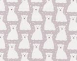 Arctic - Polar Bears Plum by Elizabeth Hartman from Robert Kaufman Fabric