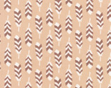 Arctic - Feathers Natural by Elizabeth Hartman from Robert Kaufman Fabric