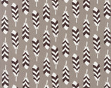 Arctic - Feathers Smoke by Elizabeth Hartman from Robert Kaufman Fabric
