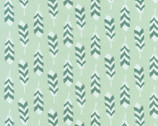 Arctic - Feathers Desert Green by Elizabeth Hartman from Robert Kaufman Fabric