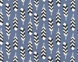 Arctic - Feathers Slate by Elizabeth Hartman from Robert Kaufman Fabric