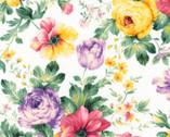Woodside Blossom - Floral Bouquet Toss Spring from Robert Kaufman Fabric