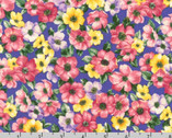 Woodside Blossom - Blossoms Periwinkle from Robert Kaufman Fabric