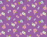 I Believe In Unicorns - Flowers Purple by Heather Rosas from Camelot Fabrics