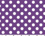 Broomhilda's Bakery - Purple White Dots from Maywood Studio Fabric