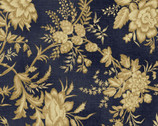 St. Louis Collection - Floral Vintage Dark Blue from Washington Street Studio Fabric