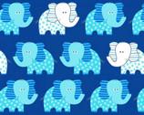 Swingin' Safari - Aqua Elephant on Teal from Studio E Fabrics