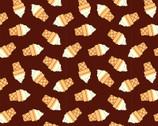 Food Trucks - Ice Cream Cones Brown by Jeanie Phan from Paintbrush Studio Fabrics