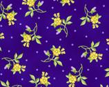 Emma's Garden - Little Flowers Dark Purple by Debbie Beaves from Maywood Studio Fabric