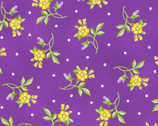 Emma's Garden - Little Flowers Violet by Debbie Beaves from Maywood Studio Fabric