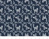 Skogen - Horse Frame Navy Blue from Camelot Fabrics