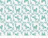 Skogen - Horse Frame Teal Green from Camelot Fabrics