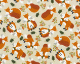 Lookin' Foxy - Fox Allover Oat from Timeless Treasures Fabrics