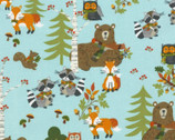 Lookin' Foxy - Forest Animals Blue from Timeless Treasures Fabrics