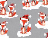 Noel Forest - Fox Grey from KANVAS by Benartex Fabrics