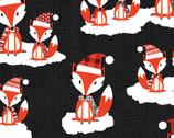 Noel Forest - Fox Black from KANVAS by Benartex Fabrics