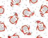 Noel Forest - Owls White from KANVAS by Benartex Fabrics
