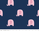 Flannel Basics - Elephant Navy FLANNEL from Riley Blake Fabric