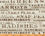 Market Place - Produce Sign Beige by Sue Schlabach from Windham Fabrics