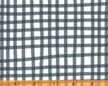 Daisy Chain - Plaid Charcoal by Annabel Wrigley from Windham Fabrics
