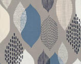 Modern Abstractions CANVAS - Ground Cover Leaves Blue from Cloud 9 Fabrics