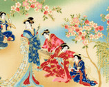 Imperial Collection 15 Metallic- Geisha Garden Spring by Hyun Joo Lee from Robert Kaufman Fabric