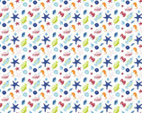 Ahoy Matey - Sea Creatures White from Camelot Fabrics